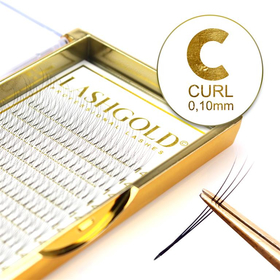 C-Curl Fächerwimpern 3D 0,10 mm